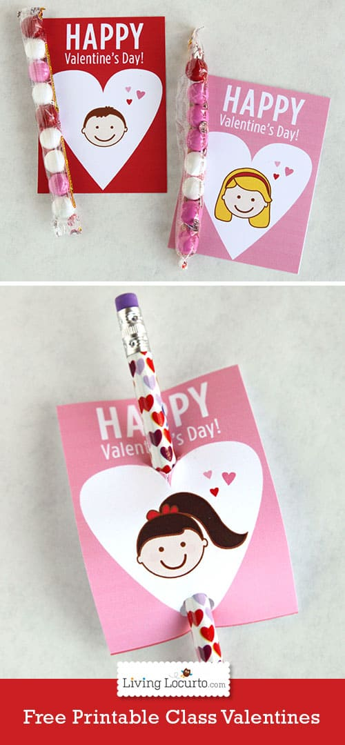 free printable school valentines day cards for kids by livinglocurtocom - Valentine Day Cards For Kids