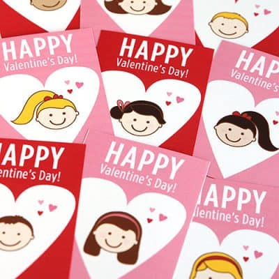 Free Printable School Valentine's Day Cards For Kids