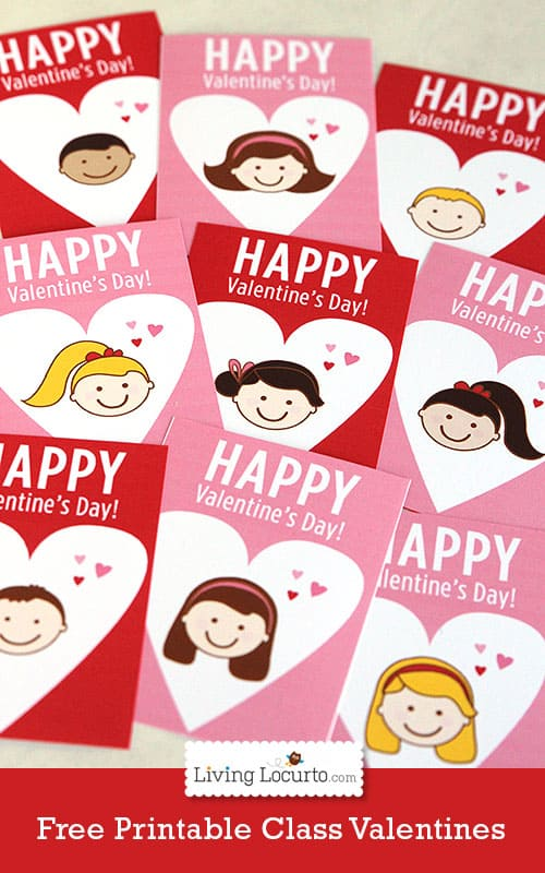 Free Printable School Valentine's Day Cards For Kids {Blog Hop}