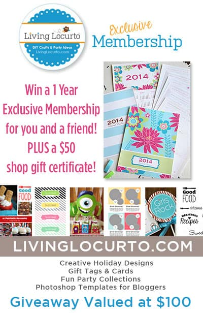 Win an exclusive membership for you and a friend to Living Locurto, PLUS a gift card to the shop! LivingLocurto.com