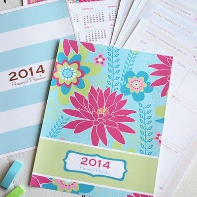 Printable Personal Planner | 2014 Calendar