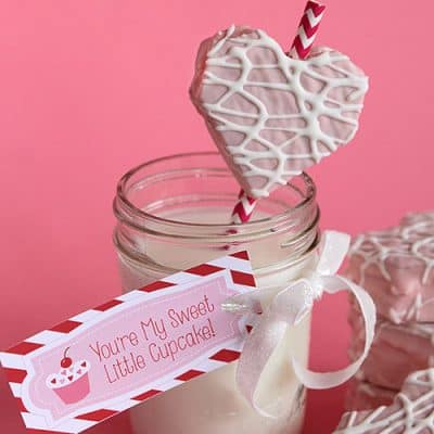 Easy Valentine's Day Party Dessert Idea | Free Printable