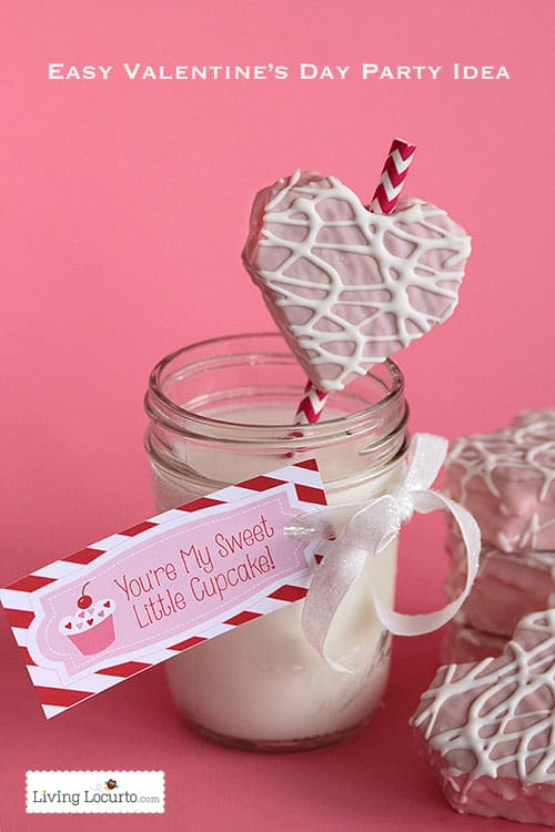 Valentines Day Dinner Party Ideas Part - 49: Easy Valentineu0027s Day Fun Food Party Idea With Free Printable Tags. Little  Debbie Heart Cakes