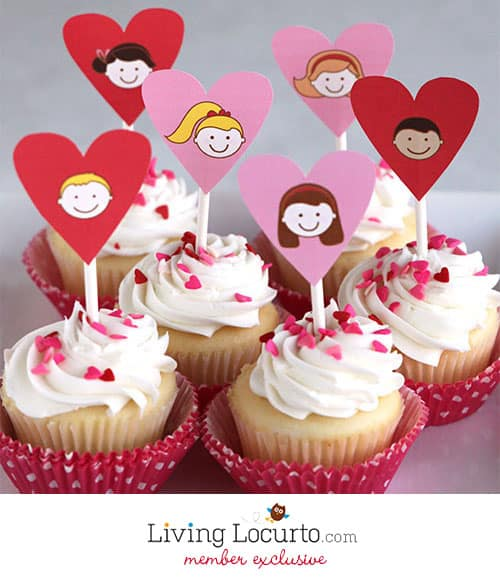 Super cute Exclusive Valentines Day Party Printables by Amy at LivingLocurto.com