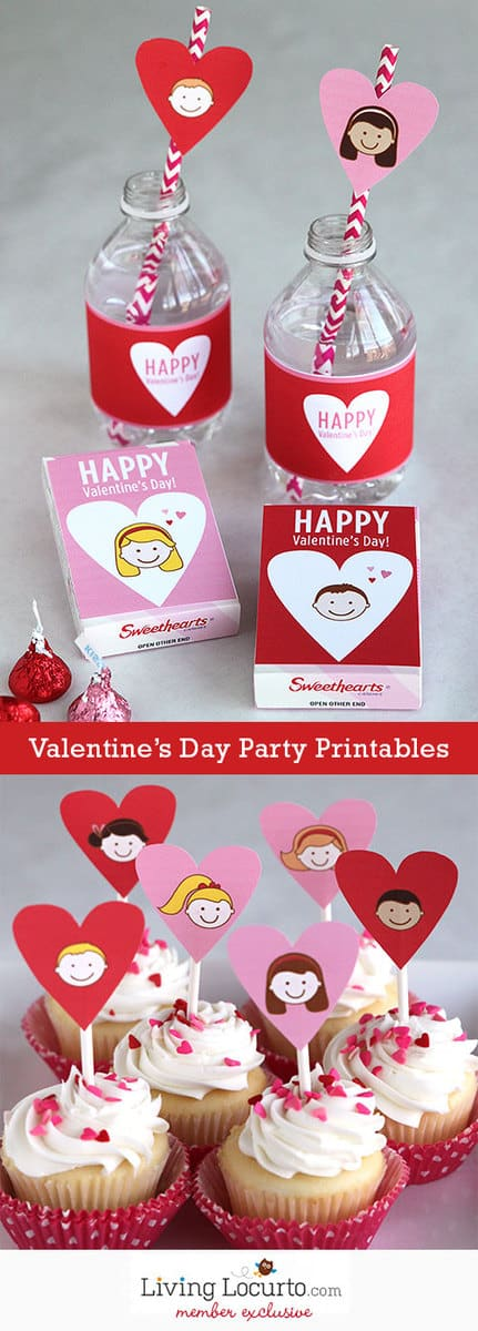 Valentines Day Class Party Printable collection. LivingLocurto.com