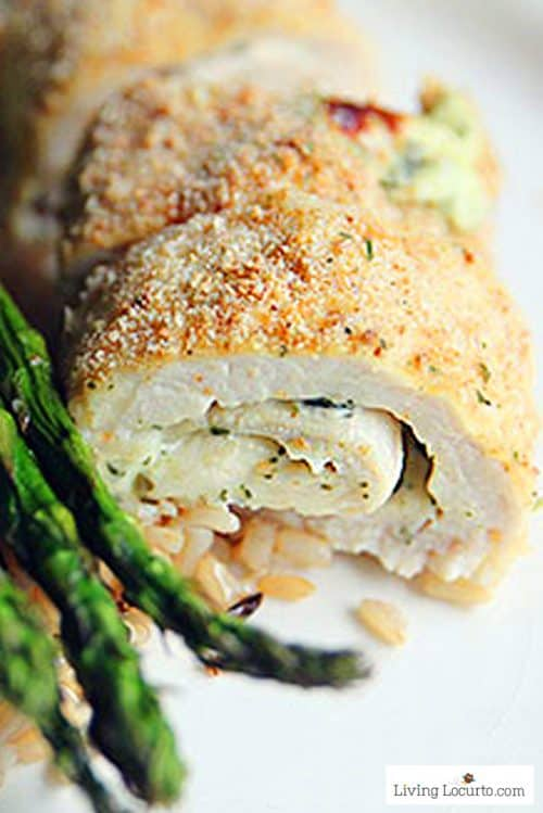 Low Carb Baked Chicken Pesto Rolls Recipe. Easy dinner idea