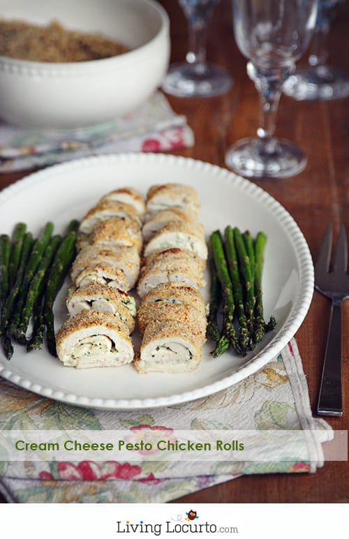 Cream Cheese Pesto Baked Chicken Rolls Recipe at LivingLocurto.com