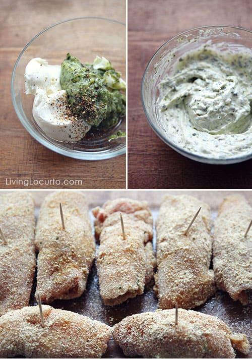 How to make EASY Crispy Oven Baked Chicken Pesto Rolls for dinner. Simple baked chicken recipe.