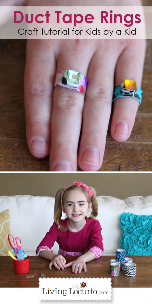 How to Make Duct Tape Rings. A Fun and Easy Kids Craft! LivingLocurto.com