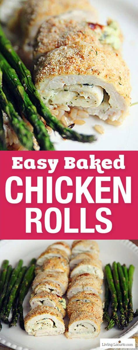 Easy Low Carb Baked Chicken Rolls Recipe