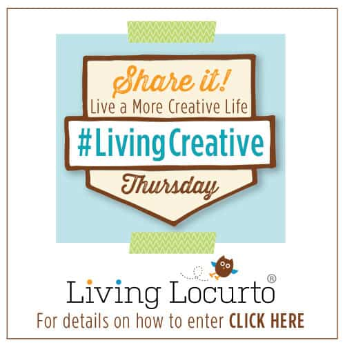 Fun Link Party! Thursdays share a creative DIY project photo and link on Facebook or Instagram. Hashtag #LivingCreative