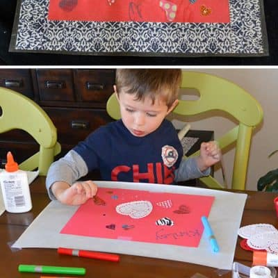 DIY Placemats | Easy Valentines Day Craft for Kids