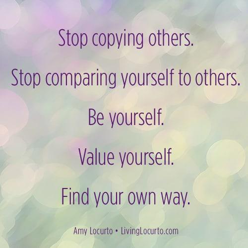 Stop Comparing Yourself Quote - LivingLocurto.com