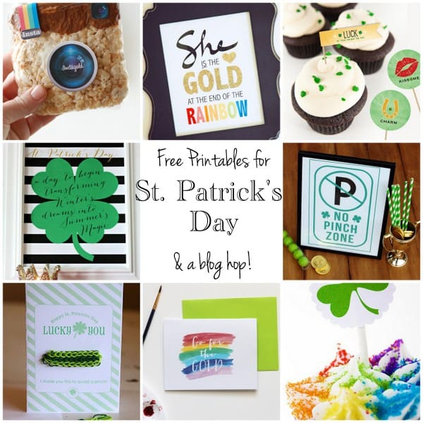 St. Patrick's Day Free Printables and Blog Hop. LivingLocurto.com