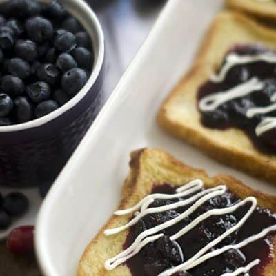 Overnight Cranberry-Blueberry French Toast