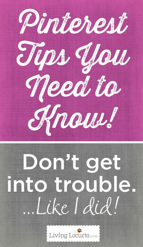 Important Pinterest Tips You Need To Know! Blogging Tips from Amy at LivingLocurto.com
