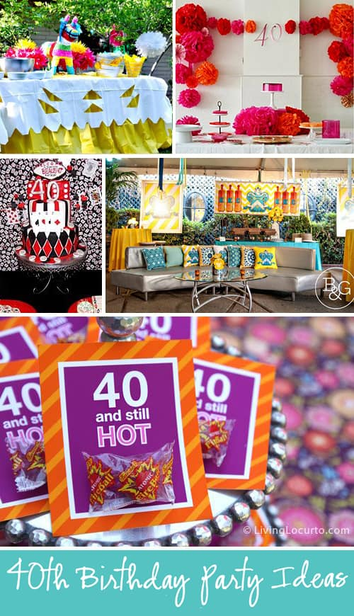 Fun 40th Birthday party ideas for men and women. The most amazing party ideas to make you look forward to turning 40!