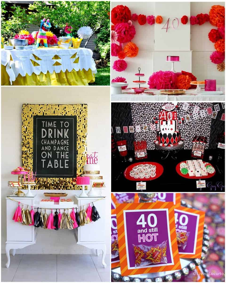 10 amazing 40th birthday party ideas for 40 birthday decoration ideas