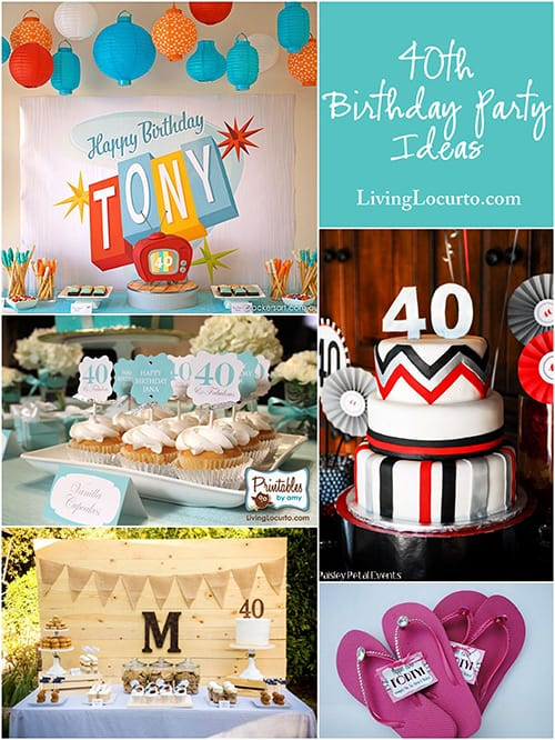 The most amazing hip, bright and fun party ideas to make you look forward to turning 40! Fun 40th Birthday party ideas for men and women.