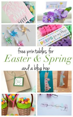 8 free printables for Easter and Spring