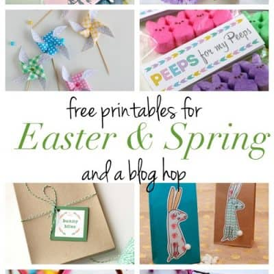 Free Printable Easter Tags | Spring Printables Blog Hop