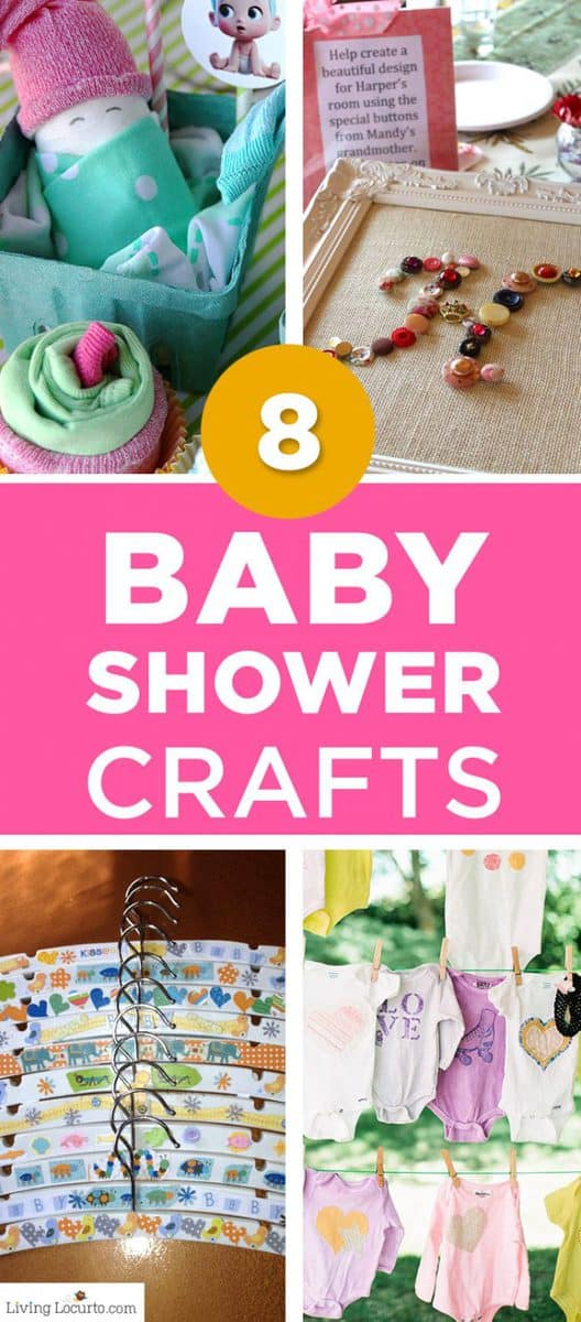 8 Creative baby shower crafts and party activities for party guests. Fun alternatives to baby shower games.