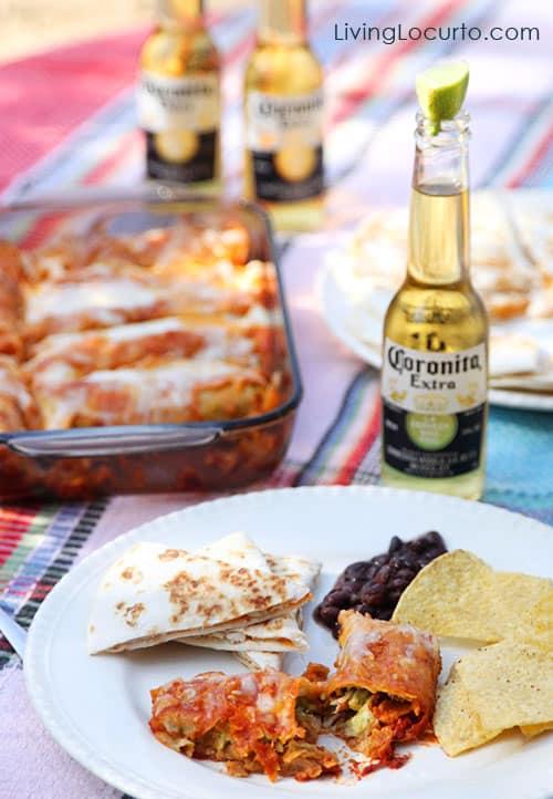 Easy Low Carb Chicken Guacamole Enchiladas! Recipe at LivingLocurto.com