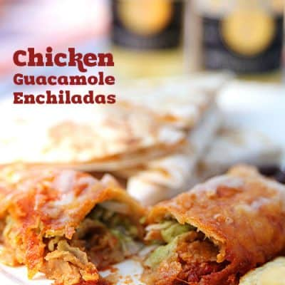 Low Carb Guacamole Chicken Enchiladas
