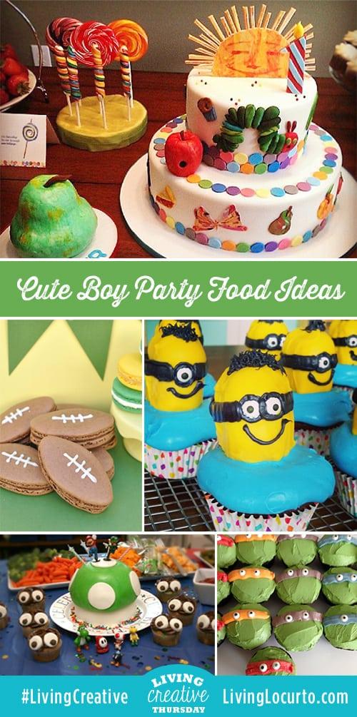 boy birthday party cute food ideas