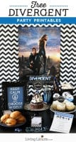 Divergent Party Ideas with Free Party Printables. LivingLocurto.com