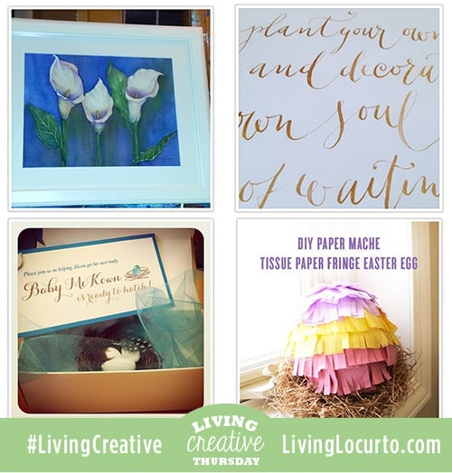 Fun Living Creative Thursday Link Party! Share a creative Made by Me DIY project on Facebook or Instagram. #LivingCreative