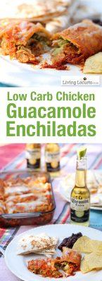 Low Carb Guacamole Chicken Enchiladas Recipe