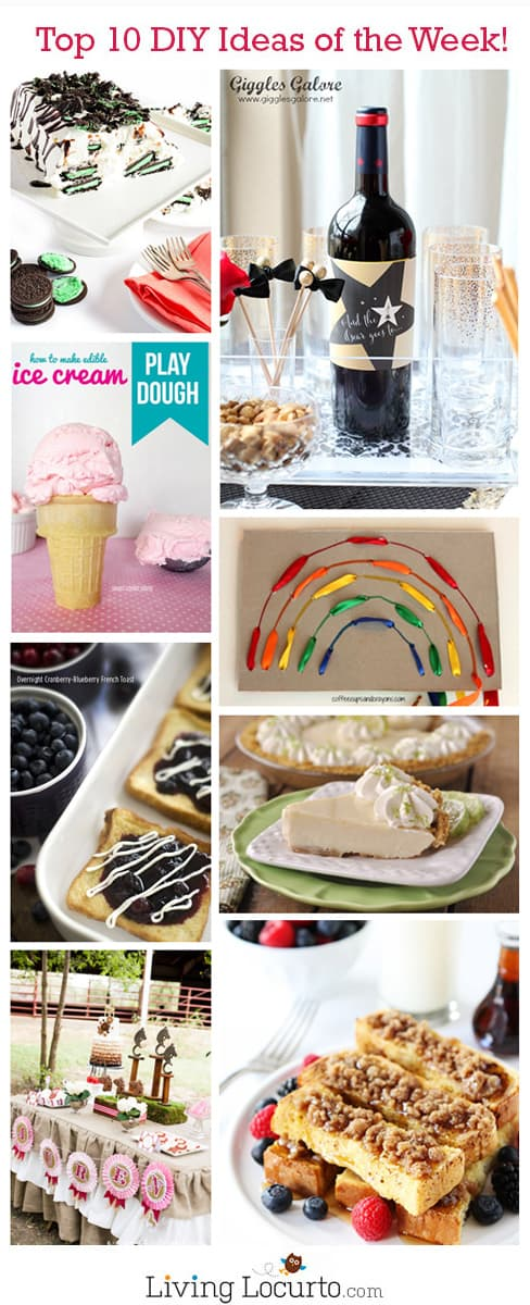 Oscars Party Ideas, Free Printables, Breakfast and Dessert Recipes, Rainbow Crafts and Edible Ice Cream Play Dough. LivingLocurto.com