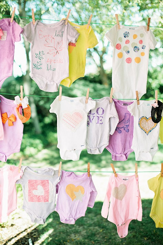 Decorate Baby Clothes - 8 Fun Baby Shower Crafts and Party Activities. Alternatives to baby shower games.