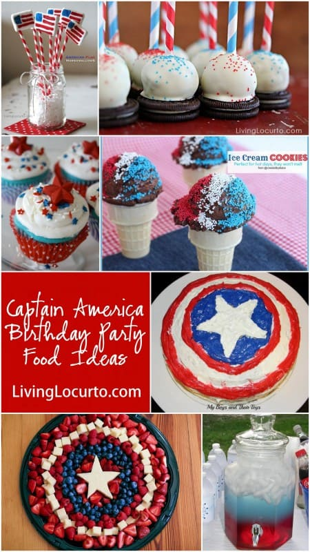 Captain America Birthday Party Food Ideas at LivingLocurto.com
