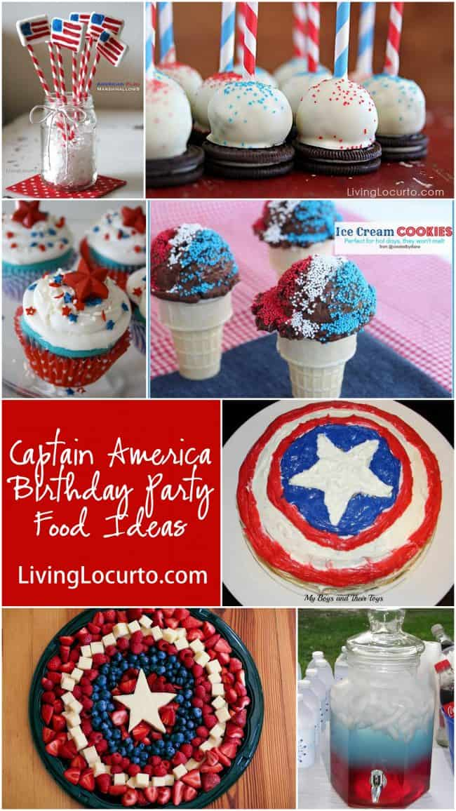 Captain America Birthday Party Food Ideas
