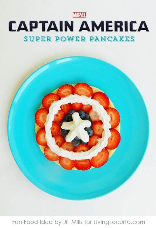 Captain America Pancakes Recipe