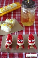 Crawfish and corn cupcakes! Fun Food idea at LivingLocurto.com