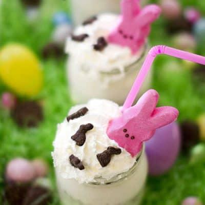 Easter Candy Milkshake with Peeps
