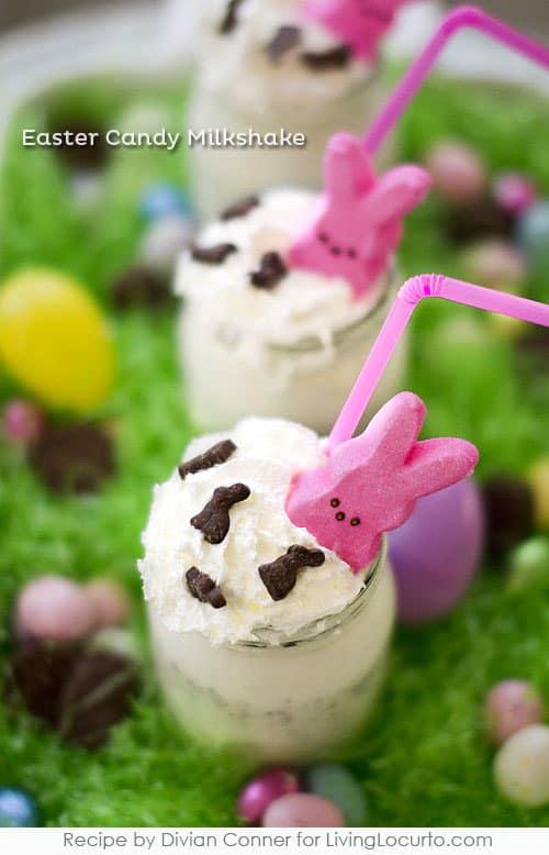 Easter Candy Robins Egg and Peeps Milkshake Recipe at LivingLocurto.com