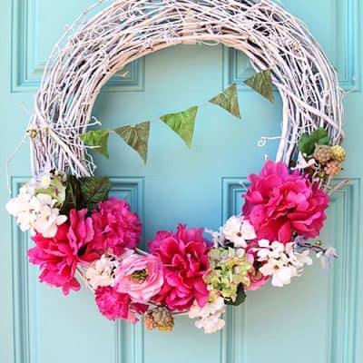 Easy DIY Spring Wreath Craft