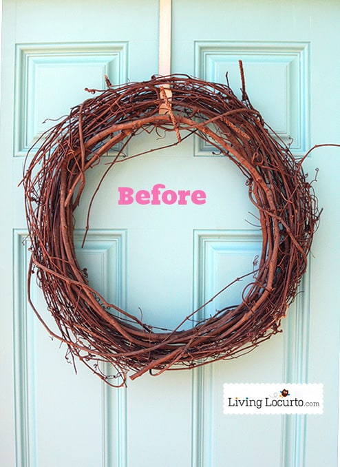 Easy DIY Spring Wreath Tutorial at LivingLocurto.com