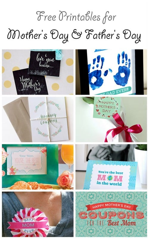 Free Printables for Mother's Day and for Father's Day