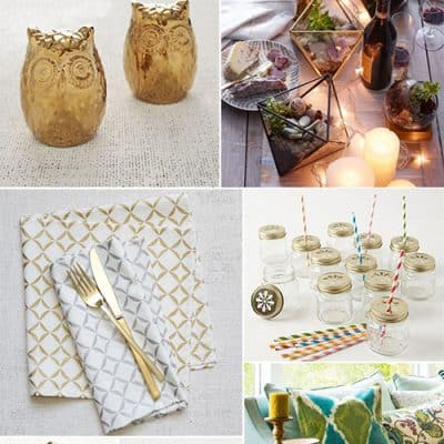10 Gold Ideas for Home or Party