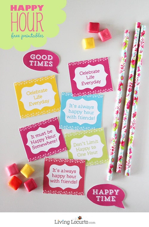 Fun Happy Hour Free Party Printables. LivingLocurto.com