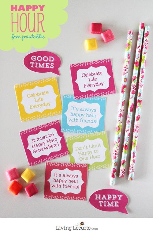 Fun Happy Hour Free Party Printables. LivingLocurto.com
