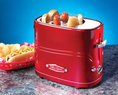 Hot Dog Toaster.  All kinds of hot dog goodies perfect for a summer party or funny gift!