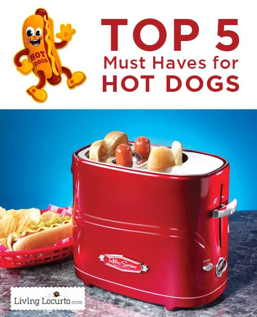 Top 5 Must Haves for Hot Dogs! All kinds of hot dog goodies perfect for a summer party or funny gift!