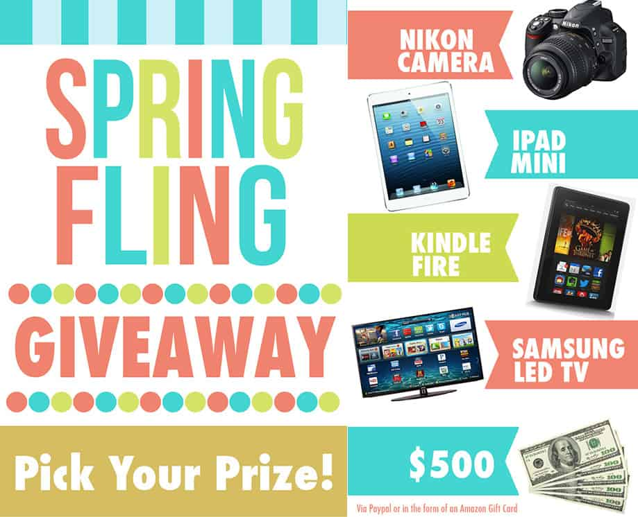 Spring Fling BIG Giveaway & Pinterest Party