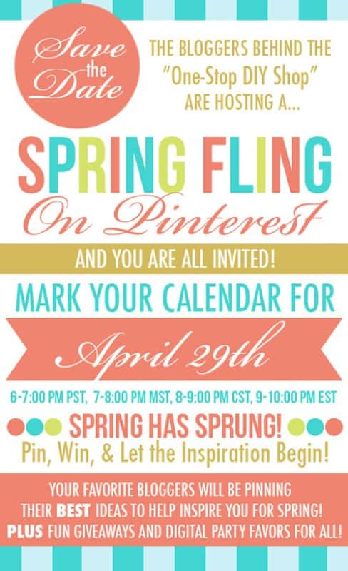 FUN Spring Fling Pinterest Party & HUGE Giveaway! Save the Date for April 29, 2014
